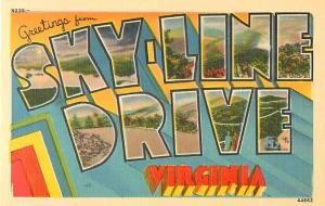 Greetings from Sky-Line Drive Virginia VA Large Letters