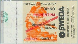 C0139  - Vecchio  BIGLIETTO PARTITA CALCIO - 1986 / 1987 : TORINO / FIORENTINA
