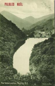 new zealand, NELSON, the Waterworks (1910s) Pilules Noël Advertisement