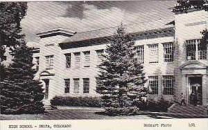 ColoradoDelta high School Real Photo