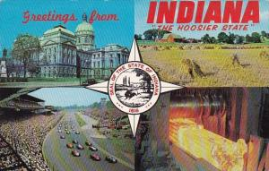Seal Of The State Of Ondiana 1816 Greetings From Indiana The Hoosier State In...