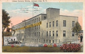 Ansco Camera Works, Johnson City, New York, Early Postcard, Used in 1930