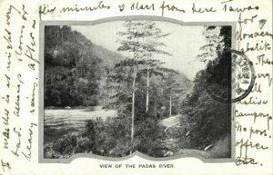 british north borneo, SABAH, View of the Padas River (1904) Postcard
