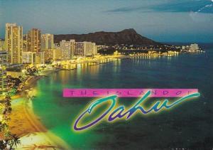 Hawaii Evening Lights Of Waikiki