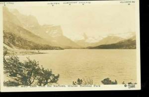 MT, Glacier National Park, Montana, RPPC, Saint Mary Lake
