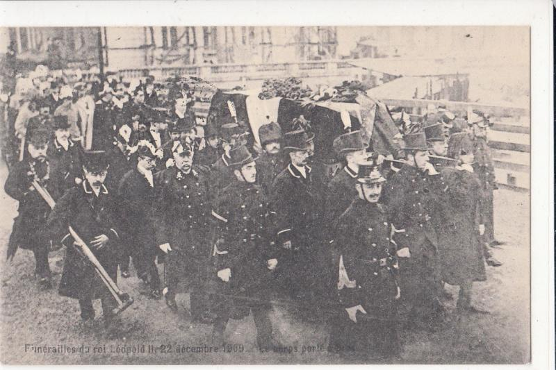 BELGIUM ROYALTY KING LEOPOLD II FUNERAL LE CORPS PORTE 1910