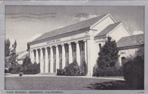 High School , MODESTO , California , PU-1945