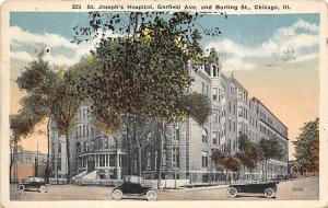 Hospitals Post Card St Joseph's Hospital Chicago, Illinois, USA Postcard...
