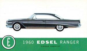 Detroit MI 1960 Edsel Ranger 2-Door Hardtop Postcard