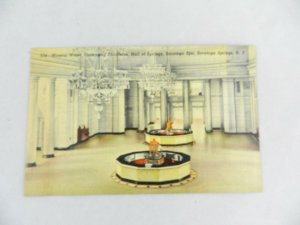 VINTAGE POSTCARD MINERAL WATER DISPENSING FOUNTAIN SARATOGA SPRINGS NEW YORK