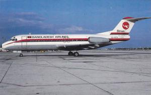 Biman Bangladesh Airlines Airplane at airport , Bangkok , Thailand , 1990