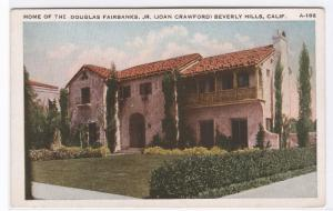 Douglas Fairbanks Jr Joan Crawford Movie Actor Beverly Hills California postcard