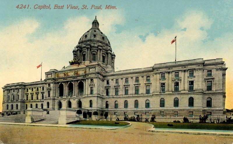MN - St Paul. State Capitol, East View