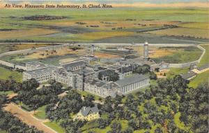 St. Cloud Minnesota 1946 Postcard Aerial View Minnesota State Reformatory Jail
