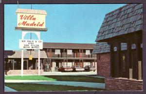 Villa Madrid Motel Crete Nebraska Post Card PC2279