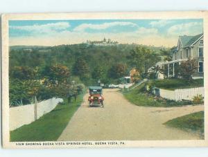 W-Border HOTEL SCENE Buena Vista In Elizabeth - Near Pittsburgh PA H1279