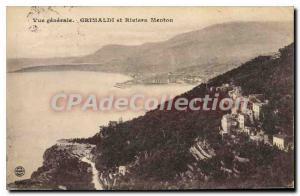 Postcard Old GRIMALDI and Riviera Menton