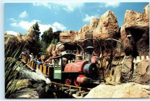 Disneyland Big Thunder Mountain Railroad Frontierland vintage 4x6 Postcard A48