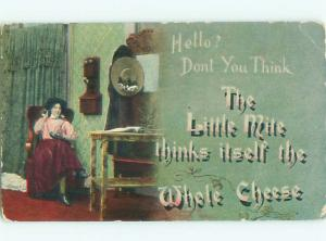 Divided-Back PRETTY WOMAN Risque Interest Postcard AA7841