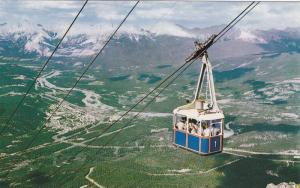 Japer Sky Tram carries passengers to a point on Whistlers Mountain,  Jasper, ...