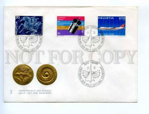 416900 Switzerland 1972 y COVER Swiss Museum Transport and Aerospace SPACE PLANE