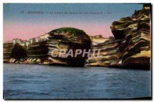 Old Postcard Bonifacio Grain Of Sand And The Cliffs
