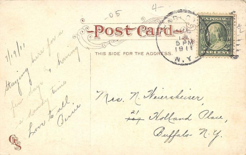 Charlotte New York~Ontario Beach Park~Scenic Railway~Crowded Boardwalk~1911 PC