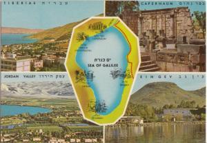 Israel, SEA OF GALILEE, multi view, TIBERIAS, CAPERNAUM, EIN-GEV, JORDAN VALLEY,
