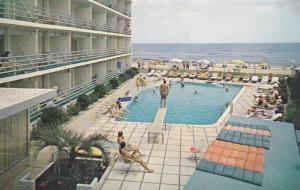 Swimming Pool,  La Playa Motel,  Virginia Beach,  Virginia,  PU-1963