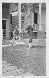 Baseball Real Photo Postcard Post Card John & Anthony Kurin 1914, Detroit