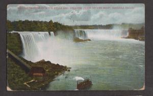 View Of Both Falls & Maid Of The Mist, Niagara Falls, NY- Used 1907 - Some Wear