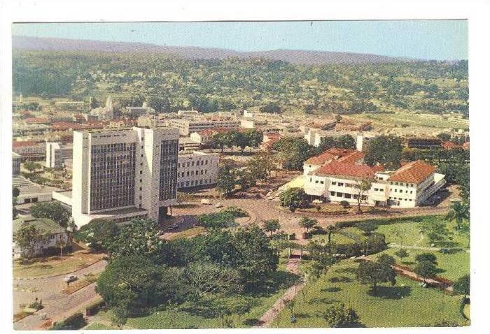 Aerial View of Kampala City, Uganda, 50-70s