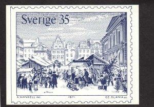 Sweden Swedish Postcard Stamp Sverige A Mankell Artist Sketch