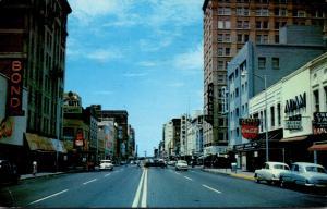 Oklahoma Oklahoma City Main Street Downtown Shopping District 1956