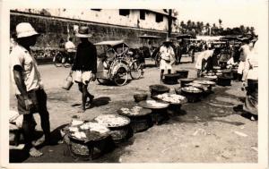 CPA AK INDONESIA DUTCH INDIES - Market - Java - REAL PHOTO (a1593)