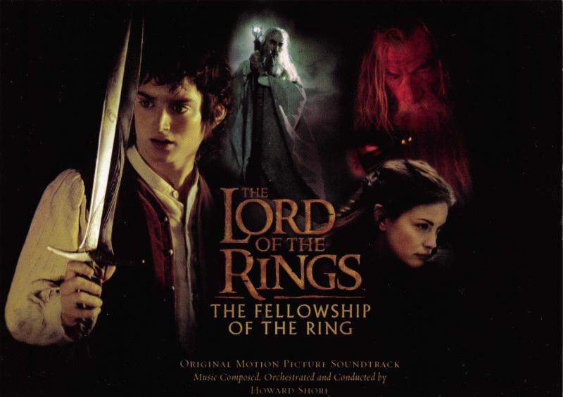 Postcard Lord Of The Rings, Fellowship Of The Ring, Soundtrack Advert Card #362