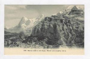 Mountains Tower over Village,Murren ,Switzerland 1900-10s