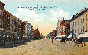 LP38 South Bend  Indiana Vintage Postcard Michigan St.