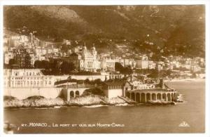 RP  mONACO.-Le Port et vue sur Monte Carlo, 1900-10s