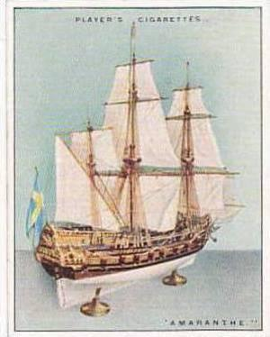Player Vintage Cigarette Card Ship Models 1926 No 4 Amaranthe 1654