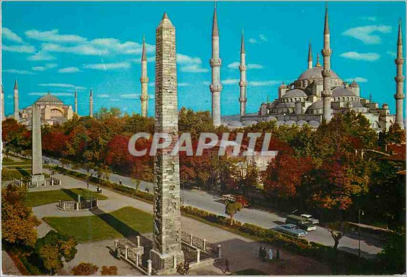 Postcard Modern Istanbul Turkey Hippodrome and the Blue Mosque