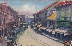Philippines Manila Binondo Main Street 1909