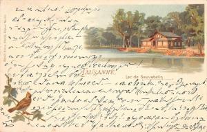 BG19257 lausanne lac de sauvabelin litho switzerland