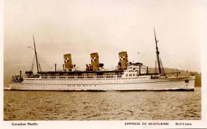 Canadian Pacific Line - Empress of Scotland   *RPPC