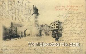 Gruss aus Mulhausen I E Germany, Deutschland Postcard Bollwrk Gruss aus Mulha...