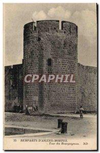 Old Postcard Chateau Remparts Acute Dead Tour Burgundians