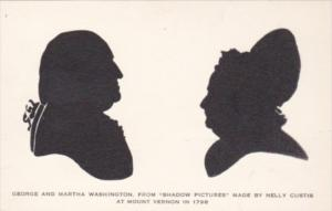 Silhouette George and Martha Washington From Shadow Pictures by Nelly Curtis ...