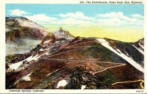 Colorado Colorado Springs Pikes Peak Auto Highway The Switchbacks Curteich