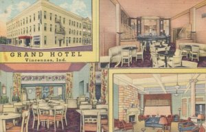 VINCENNES, Indiana, 1930-40s; Grand Hotel, 4-views