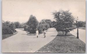 Milwaukee, Wis., View in Washington Park, two girls on the path